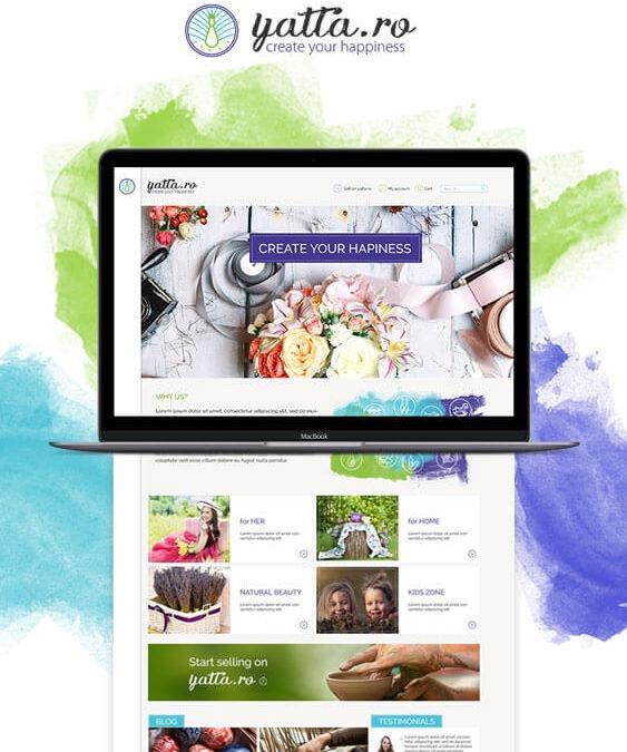 Yatta webshop design
